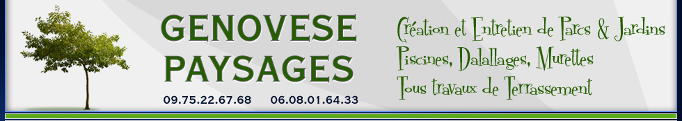 Conseiller Genovese Paysages - Paysagiste